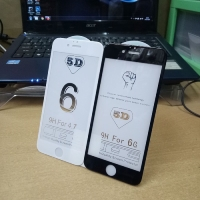 Tempered Glass 5D Melengkung Full Lem Full Layar Iphone 6 Plus