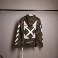 Off White Hoodie - Diagonal Camouflage