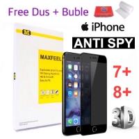 MAXFEEL Tempered Glass 3D Anti Spy AntiSpy Iphone 7+ 7 Plus 8+ 8 Plus