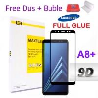 MAXFEEL Tempered Glass 3D Edge Samsung A8+ A8 Plus 2018 A8Plus 2018