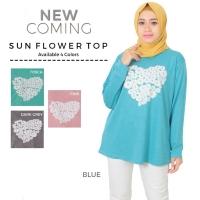 Kaos kekinian termurah/ fashion muslim / kaos cewek jumbo sunflower