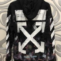 Ready stock off white hoodie galaxy brushed grade original / offwhite