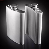 Hip Flask 8 Oz Stainless Steel Portable Wine Whisky Bottle Drinkware