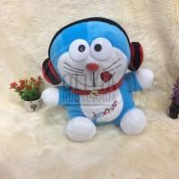 Boneka doraemon pakai headphone bonek doraemon pakai headset