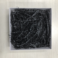 Shredded paper / kertas potong crinkle cut / hitam black 200 gr