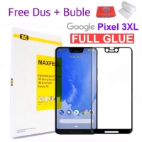 MAXFEEL Tempered Glass Google Pixel 3 XL 3XL Full Cover Full Glue