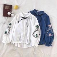 Kemeja Wanita Ribbon Floral Flower Baju Best Seller T - Shirt 1367