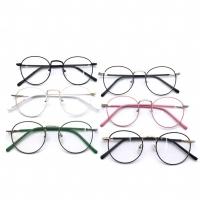 Paket lensa minus frame kacamata pria wanita round 9765