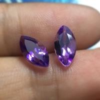 Natural Amethyst Purple Marquise Cut Padi Batu Kecubung Ametis Ungu