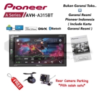 Pioneer AVH-A315BT MirrorLink Head Unit Double Din Tape Mobil + Cam