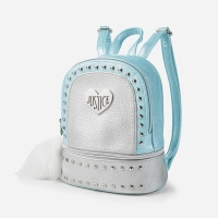 Tas Justice Pebbled Studded Mint Mini Backpack Jalan Anak Original