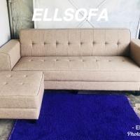 Sofa minimalis puff bahan kanvas gratis ongkir jadetabek