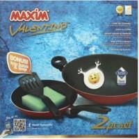 Maxim Valentino set ( kuali 30cm + Frypan 22cm ) Penggorengan Teflon