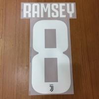 Original Nameset Juventus 2019-20 Ramsey Home dan Third