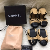 Chanel lamb skin ballerina flat shoes women