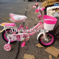 Sepeda Anak Perempuan Mini Evergreen 12 Daisy Sepeda Cewek Roda Empat
