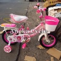 Sepeda Anak Cewek Mini Evergreen 12 Daisy Sepeda Anak Roda Empat