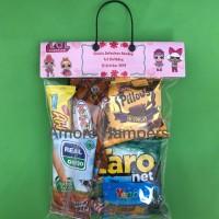 Souvenir ulang tahun bingkisan ultah topper snack goodie custom nama