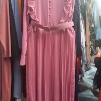 Baju wanita import bangkok | long dress / gamis meron dan biru