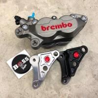 Brembo 4 Piston Grey Original + Bracket Marus Vespa Sprint 3V Iget ABS