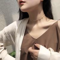 Kalung Gelang Pearl Vintage Simple Choker Fashion Korea Wanita
