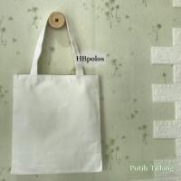 Totebag | tas kanvas | polos - putih
