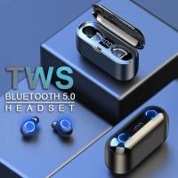 Headset Bluetooth LED Digital F9 TWS 5.0 Wireless Earbuds F9-8 F9 Mini