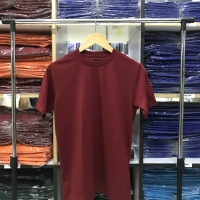 Kaos polos warna merah maroon cotton combed 30s