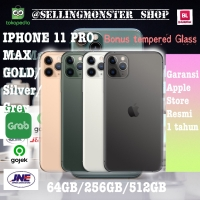 (dual sim) Iphone 11 Pro Max Gold Silver Grey - 64GB ori 100% apple