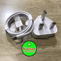 Charger UK Kaki 3 Lightning Cable With Adaptor UK Iphone 5 6 7 OEM