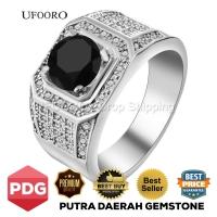 Cincin Pria Silver 925 Black Diamond Zircon Cubic JCP-011H