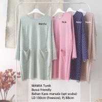 Mamia tunik blouse kaos marsala simple busui top wanita jumbo bigsize