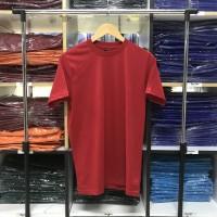 Kaos polos merah cabe cotton combed 30s Grade A