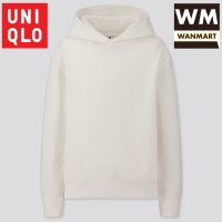 UNIQLO Kids Jaket Anak Laki Perempuan Sweat Hoodie Pullover Off White
