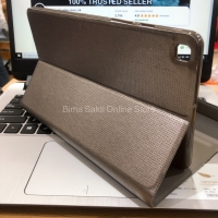 Samsung Galaxy Tab A8 LTE 2019 T295 T290 Flip Case Flip Cover Softcase - Cokelat