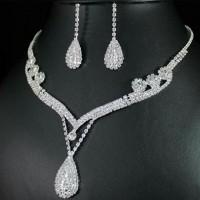 Perhiasan set korea anting kalung mewah new