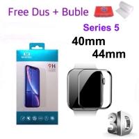 MAXFEEL Tempered Glass 3D Apple Watch iWatch Series 5 40mm 44mm - Hitam List, Series 5 44mm