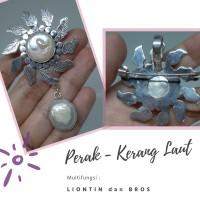 Liontin Multifungsi Bros bahan Perak dan Kerang Laut