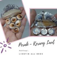 Liontin Bros Multifungsi Perak dan Kerang Laut