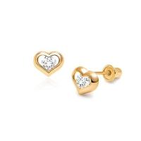 Anting Giwang Anak Berlian Emas 750 Bayi Baby Earrings Diamond Gold 18