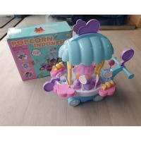Mainan anak gerobak popcorn cart sweet ice cream candy permen nyala