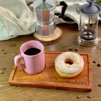 Wooden Serving Plate Tatakan gelas cafe kopi Piring kayu 15x25 cm