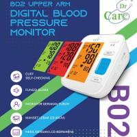 Tensimeter Digital Dr Care B02 Fungsi Suara Dan Warna Alat Ukur Tensi
