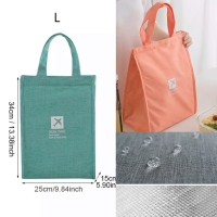 PANACHE Premium Thermal Insulated Lunch Bag size L Cooler Bag Tas beka
