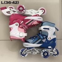 Sepatu roda nyala lampu 3 anak dan dewasa size L power inline skate
