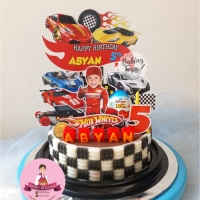 Topper Cake Birthday Hot Wheel Custom
