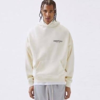 Fear Of God Essentials Photo Pullover Jaket Hoodie Pria - Off White