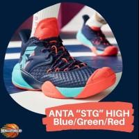 "Sepatu basket outdoor ANTA Shock The Game "" Blue/Green/Red """
