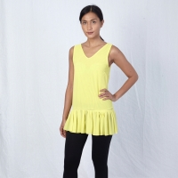 Yellow Ruffle Accent Top