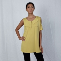 Yellow one shoulder accent